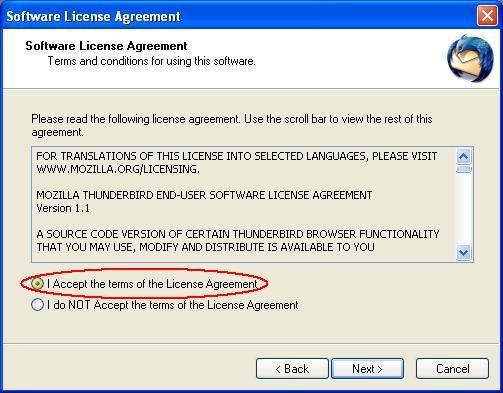 Thunderbird License Agreement